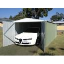Garage métal vert 17,52m² (Livré et monté)