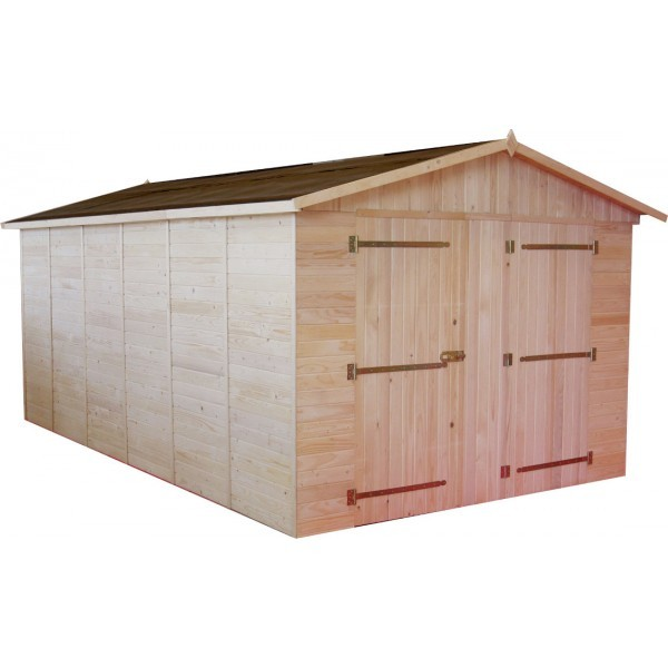 garage en bois 16mm 15 60m montage disponible. Black Bedroom Furniture Sets. Home Design Ideas
