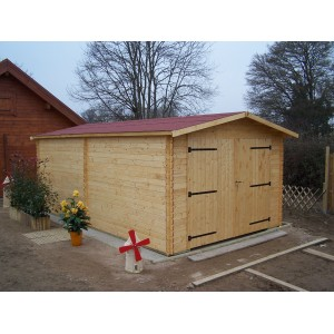 Garage en bois 28mm 21m² (Montage  disponible)