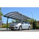 Carport Delage en aluminium gris