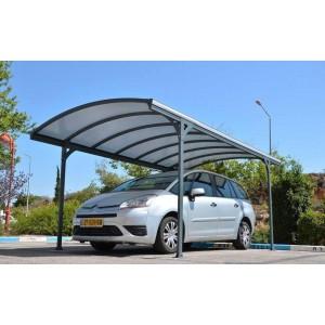 Carport Delage en aluminium gris 14,47m²