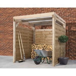 Carport en bois traité autoclave 4m²