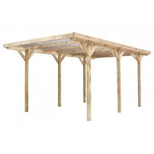 Carport en bois Madeira Max 15,72m²