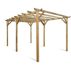 Carport en bois traité autoclave Maranello 15m²