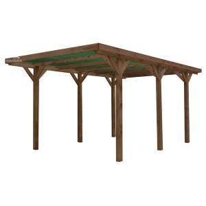 Carport en bois traité autoclave Enzo 13,10m²
