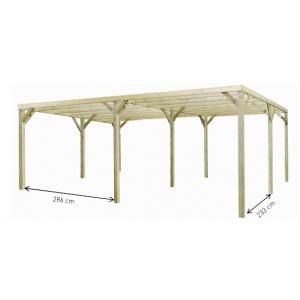 Carport en bois Monza Due 32,4m²