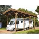 Carport en bois Madeira Camping Car 32,40m²