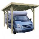 Carport en bois Camping Car